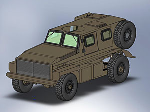 Armoured blast and ballistic protected vehicle - concept image