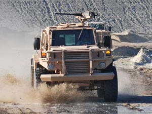 Armoured blast and ballistic protected vehicle - Protector 1 in driveline testing